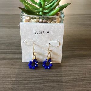 NWT AQUA Gold & Blue Earrings